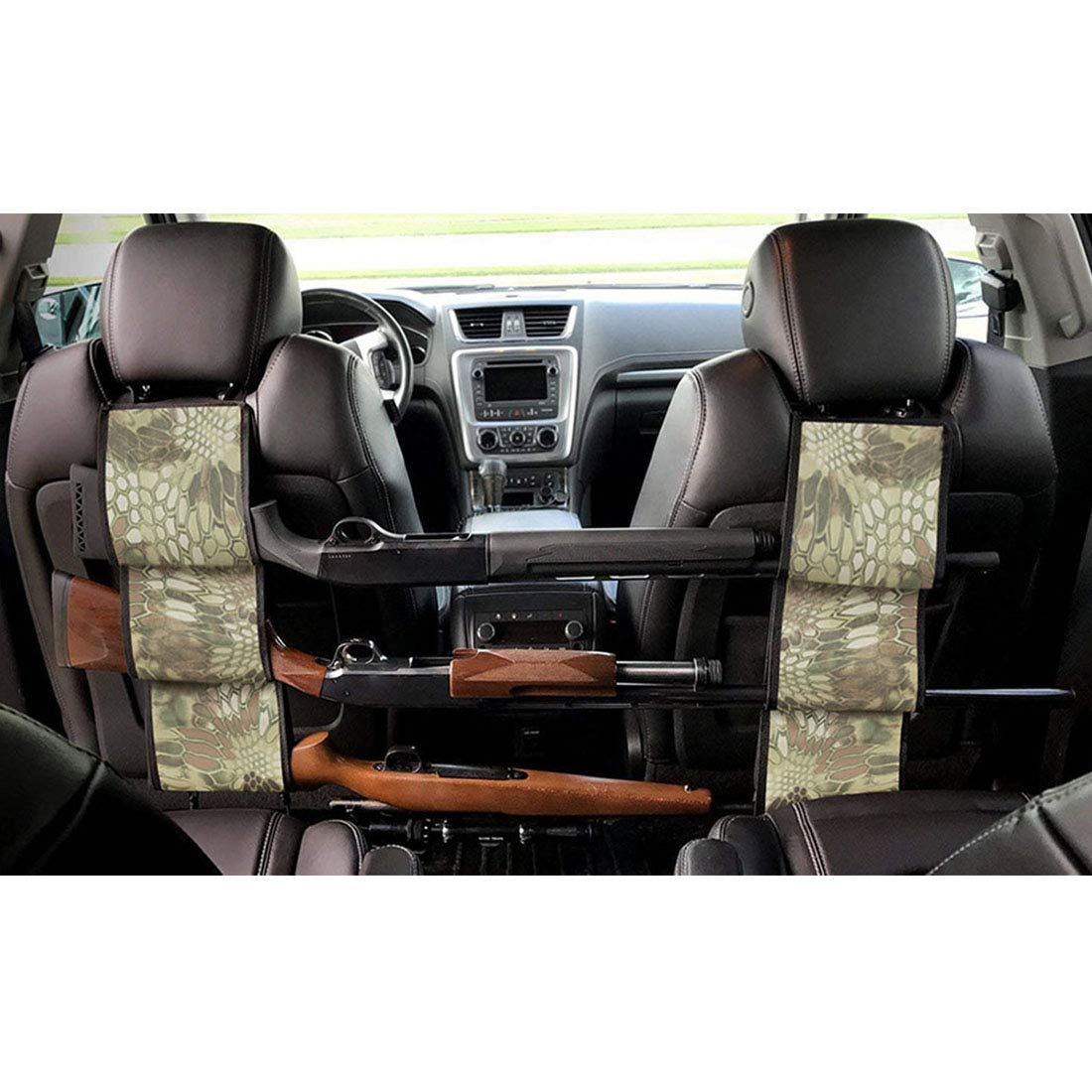 LOVIT Car Concealed Seat Back Gun Rack,Hunting Gear Seat Back Gun Sling Holder Universal Shooting Accessories, Fit for Vehicles (Snake Camo)