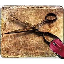 Liili Mousepad IMAGE ID 33053981 Vintage scissors on distressed background