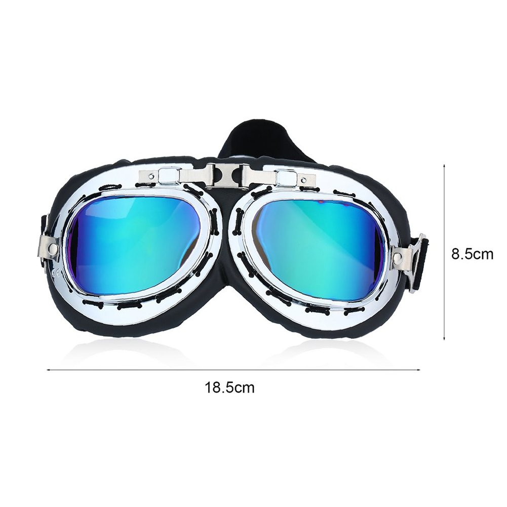 Vintage Windproof Motorcycle Goggles Cycling Glasses Helmet Motocross Glasses