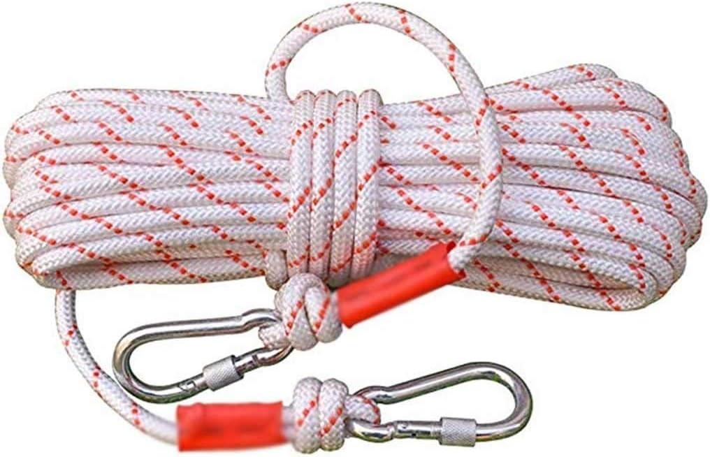 CHQYY Cuerda de cáñamo- Cuerda de nylon-60m rescate con ...