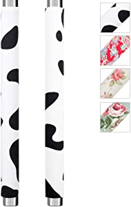 MRKG. Refrigerator Door Handle Covers, Keep Your Kitchen Appliance Clean from Smudges, Fingertips, Drips, Food Stains, Perfect for Dishwashers(Cow 15.74 x 4 inches)