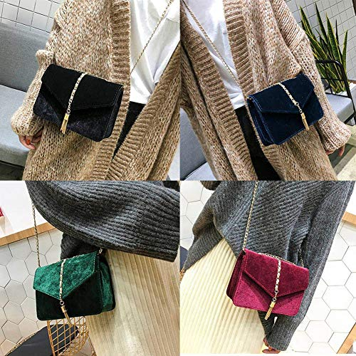 Messenger Vintage Bag Flap Green Suede Crossbody Clutch Female Island Bag Color Casual For Mini Tote Shoulder Snow Women Bags Pure Pouch S5OIqaw