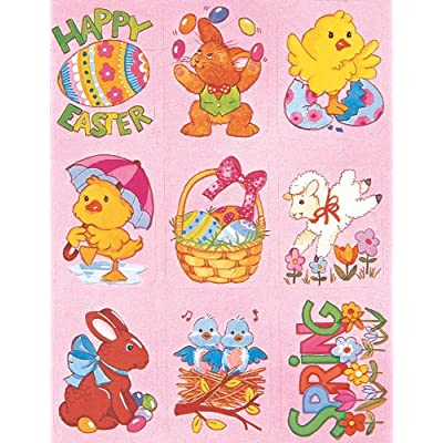 Eureka Easter Stickers: Office Products