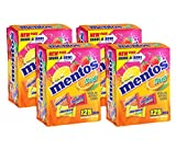 Mentos Chewy Mints in Assorted Fresh Fruit Flavor - Strawberry / Orange / Lemon - Non Melting, Stocking Stuffer, Gift, Holiday, Christmas, 125 Individually Wrapped Pieces  (Pack of 4)