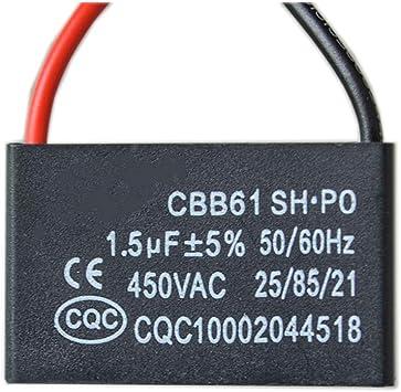 2PCS / Lot CBB61 Condensador de Arranque del Ventilador 1.5UF ...