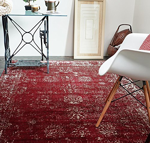 Unique Loom Sofia Collection Burgundy 8 x 10 Area Rug (8' x 10')