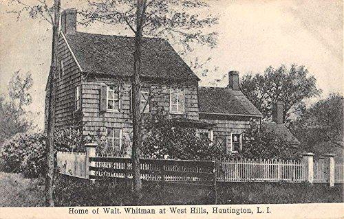 Huntington New York Walt Whitman Home Street View Antique Postcard - Whitman Huntington Walt