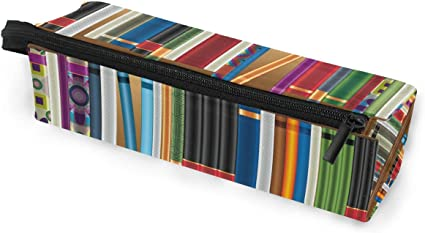 EZIOLY Estantes de biblioteca con libros antiguos, estuche de maquillaje, organizador de lápices duradero con cremallera para adultos, adolescentes, niñas, niños: Amazon.es: Oficina y papelería