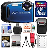 Fujifilm FinePix XP80 Shock & Waterproof Wi-Fi Digital Camera (Blue) with 16GB Card + Battery + Case + Strap + Kit