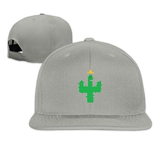 95d78d671ab OHMYCOLOR Cactaceae Succulent Plant Cactus Cartoon Adult Cotton Adjustable  Flat Brim Baseball Hats Hip Hop Snapback