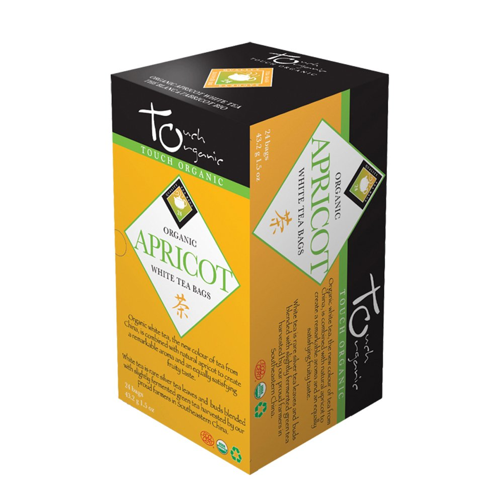 Touch Organic Tea, Apricot White, 24 Count Boxes (Pack of 72)