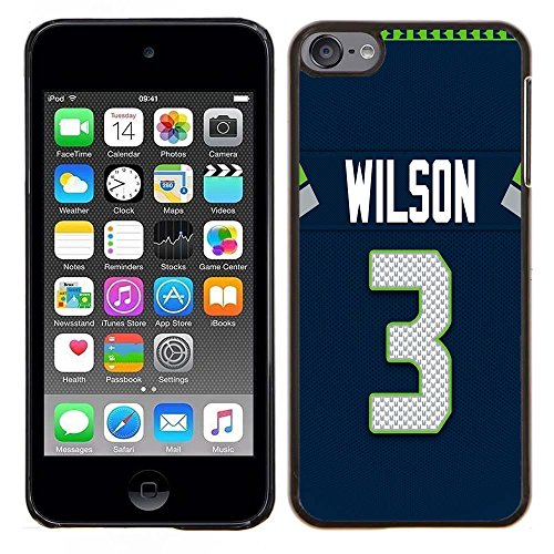 iPod Touch 5 Case, iPod Touch 6 Cases, Seahawks Logo 22 Drop Protection Never Fade Anti Slip Scratchproof Black Hard Plastic Case
