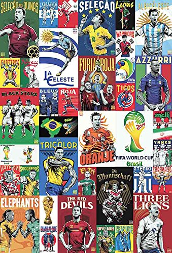 O-7861 All Star World Cup 2014 Football,soccer Poster - Rare New - Image Print (Football Soccer Poster)