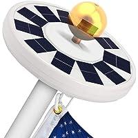 LBell 30 LED Flag Pole Lights Solar Powered Night Light
