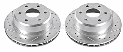 Power Stop Rear Evolution Drilled & Slotted Rotor Pair