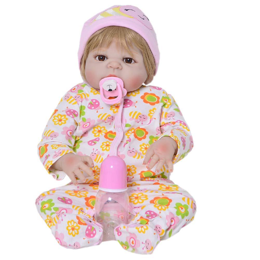KEIUMI 23 Pulgadas Realista muñecas bebé renacido Vinilo de Silicona Completa muñeca recién Nacida estimulación a Prueba de Agua muñeca Juguete imán Libre Chupete muñeco
