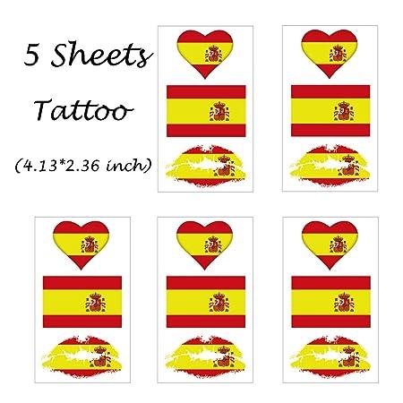 CARGEN® Bandera De EspañA Tatuajes Temporales Para El Juego De ...