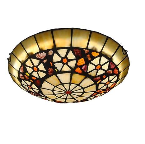 Yjmgrowing Lámparas de Techo Estilo Tiffany de LED para ...