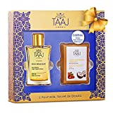 Gift Set of Delicious Moisturizing Soap Bar with Shea Butter for Dry Skin & Delicious Dry Oil for Body, Skin, Face & Hair – All Natural Organic Blends – Great Present For Christmas