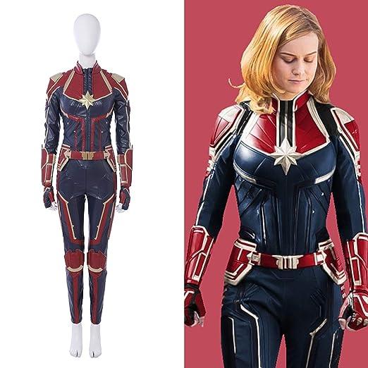 Rubyonly Traje Maravilla del Traje Carol Danvers Capitán Capitán ...