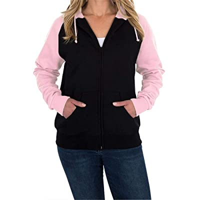OLUOLIN Women's Autumn Casual Long Sleeved Open Front Breathable Zipper Coat with Pocket: Clothing