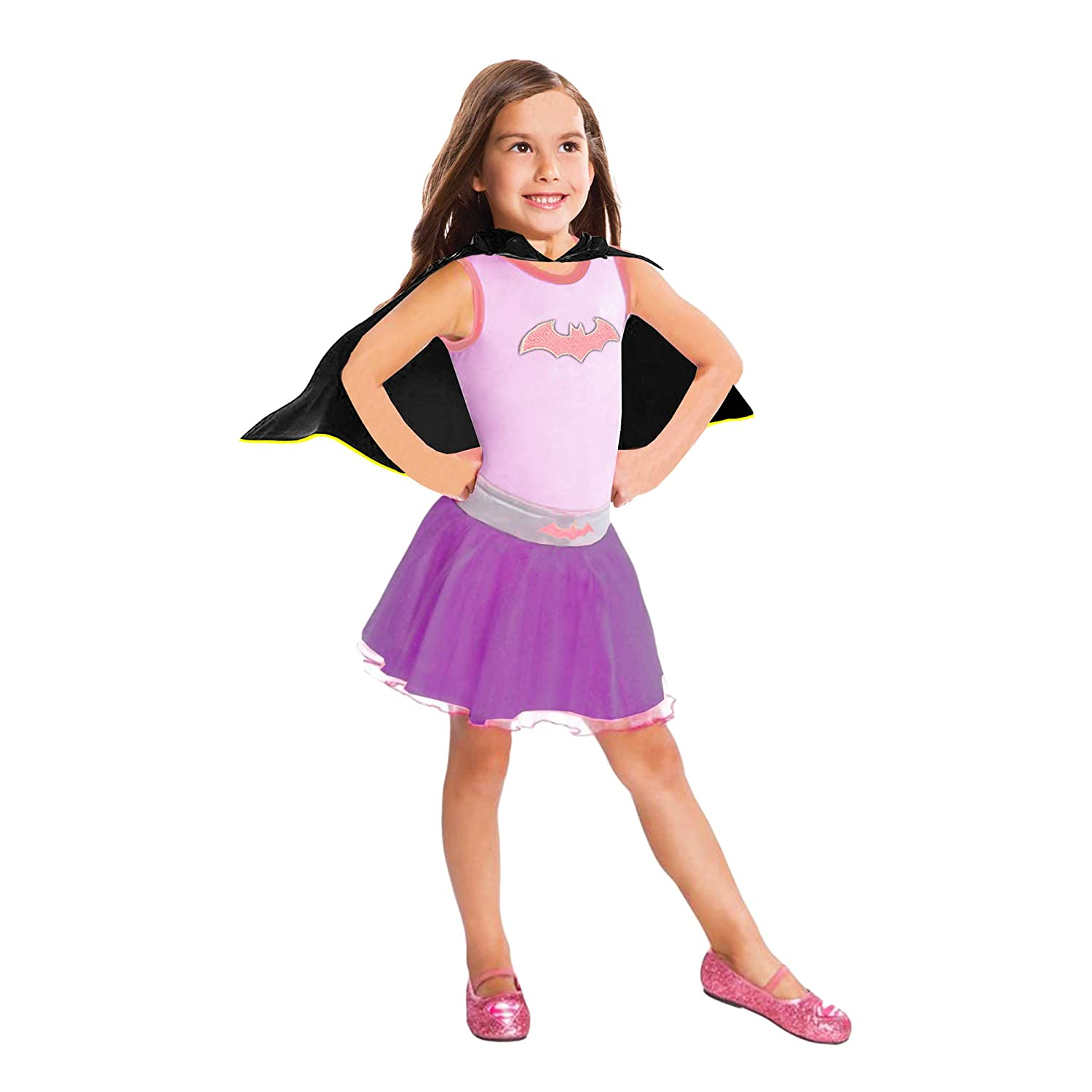 Size 4-6 ~ Party Outfit Dress Up Set with Stickers Batgirl Costume for Girls