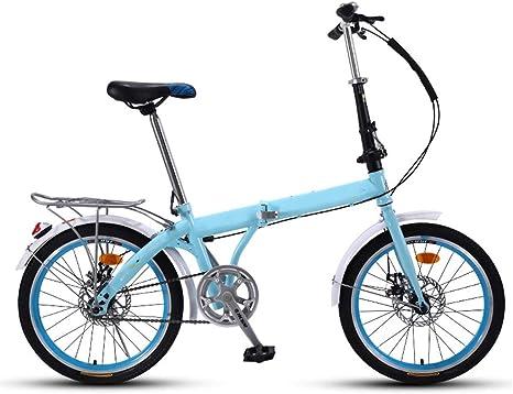 Kiyte Bicicleta Plegable Ligera Unisex de 7 Velocidades, Bicicleta ...