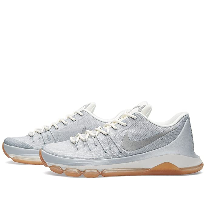577b2cef628e7 Amazon.com  Nike Men s Kevin Durant VIII Low Top Basketball Sneaker White  Wolf Grey Silver Size 9.5 D(M) US  Sports   Outdoors