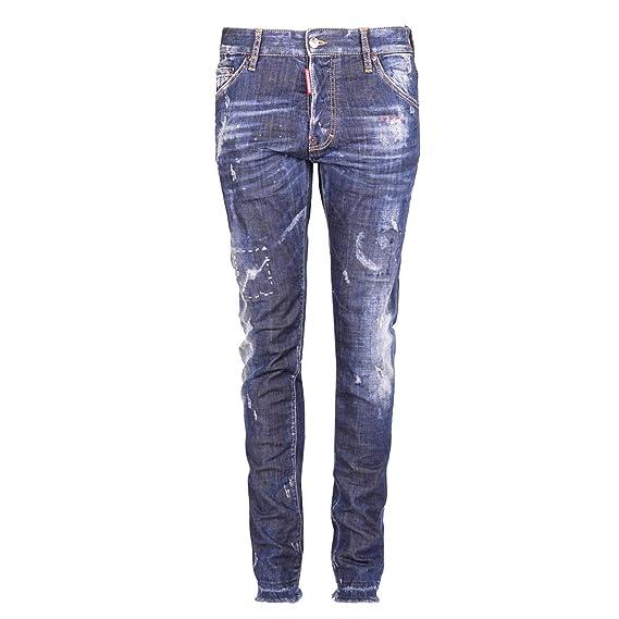 DSQUARED2 S74LB0105S30342 Pantalones Vaqueros Hombre 48 ...