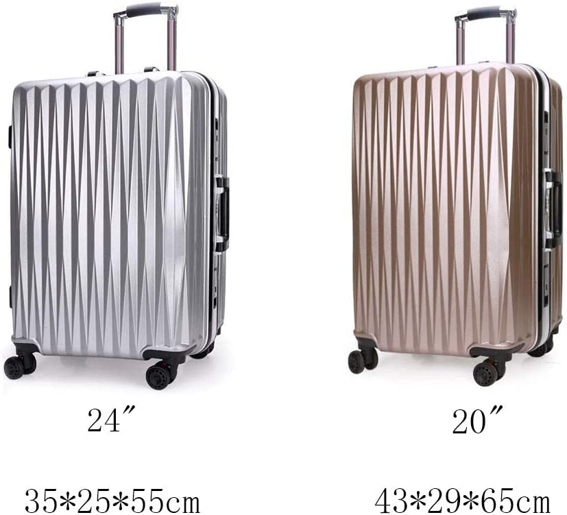 Hongsheng Aluminum Frame Trolley Case Personality Business Trolley Case,Rosegold,20