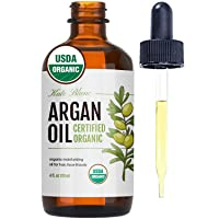 Moroccan Argan Oil, USDA Certified Organic, Virgin, 100% Pure, Cold Pressed by Kate...