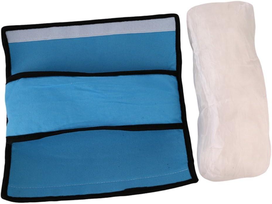 Da.Wa Auto Almohada del cintur/ón de Seguridad del Coche Proteja Hombro Almohada coj/ín Amortiguador del veh/ículo Ajuste del cintur/ón de Seguridad para los ni/ños de los ni/ños Azul