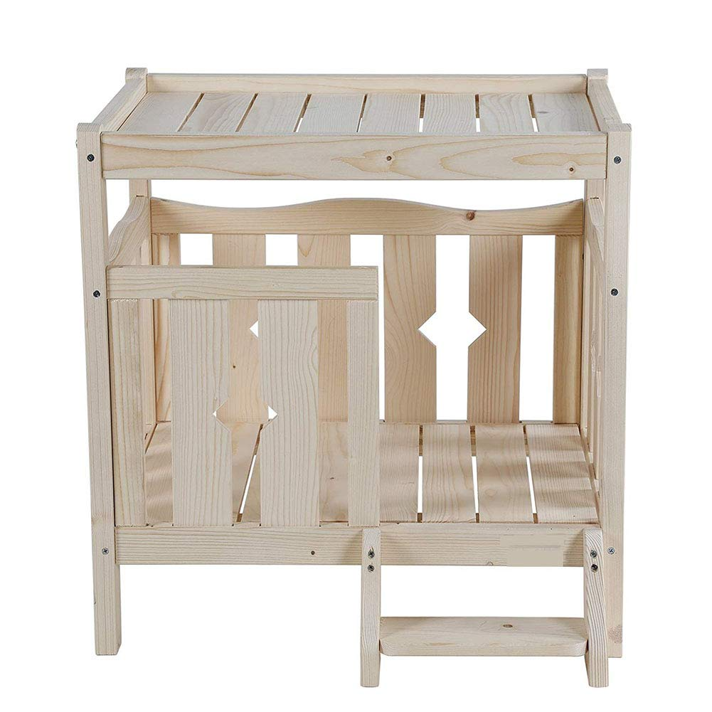 WLDOCA Pet Dog Cat Puppy House,Wooden Pet Bed For Indoor And Outdoor Use