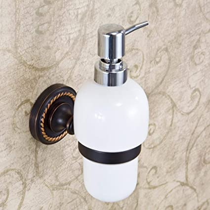 Changshun Botella Dispensador de jabón, dispensador de jabón Negro Bronce dispensador de Manos Botellas Montaje
