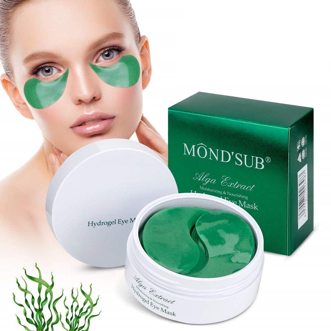 Collagen Under Eye Treatment Mask Pads Patches for Dark Circles Wrinkles Puffiness by TOP1US