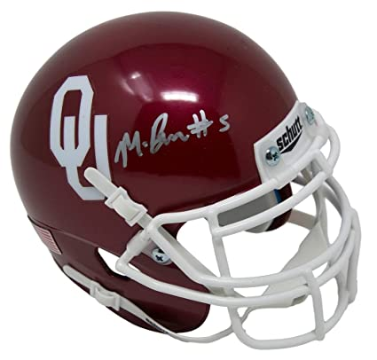ca77947be Image Unavailable. Image not available for. Color  Marquise Brown Signed  Oklahoma Sooners Mini Helmet JSA