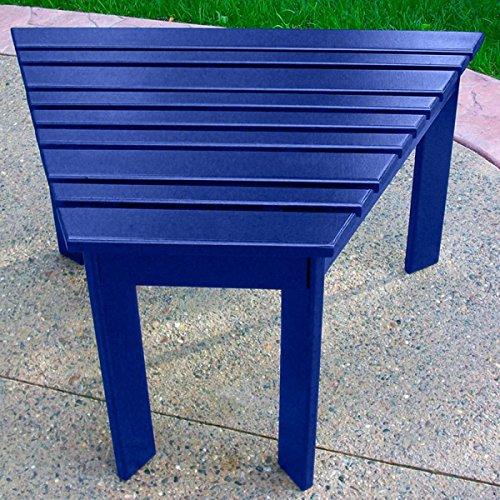 Prairie Leisure Adirondack Tete a Tete Side Table - Blue Adirondack End Table