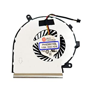 BAY Direct Laptop CPU Cooling Fan 3-Wire for MSI GE62 GE72 PE60 PE70 GL62 GL72 Compatible Part Number: PAAD06015SL (NOT GPU Fan)
