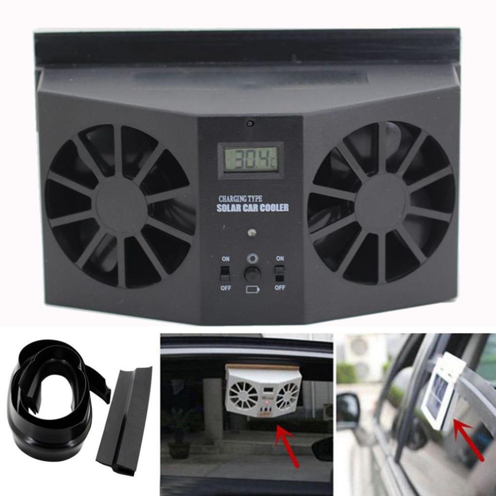 Car fan by Vibola NEW Solar Powered Car Window Air Vent Ventilator Mini Air Conditioner Cool Fan (Black)