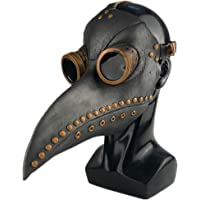 CosTribe Plague Doctor Mask Long Nose Bird Beak Steampunk Props for Halloween Costume