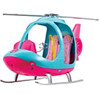 Barbie Dreamhouse Adventures Helicopter, Pink and Blue with Spinning Rotor, for 3 to 7 Year Olds