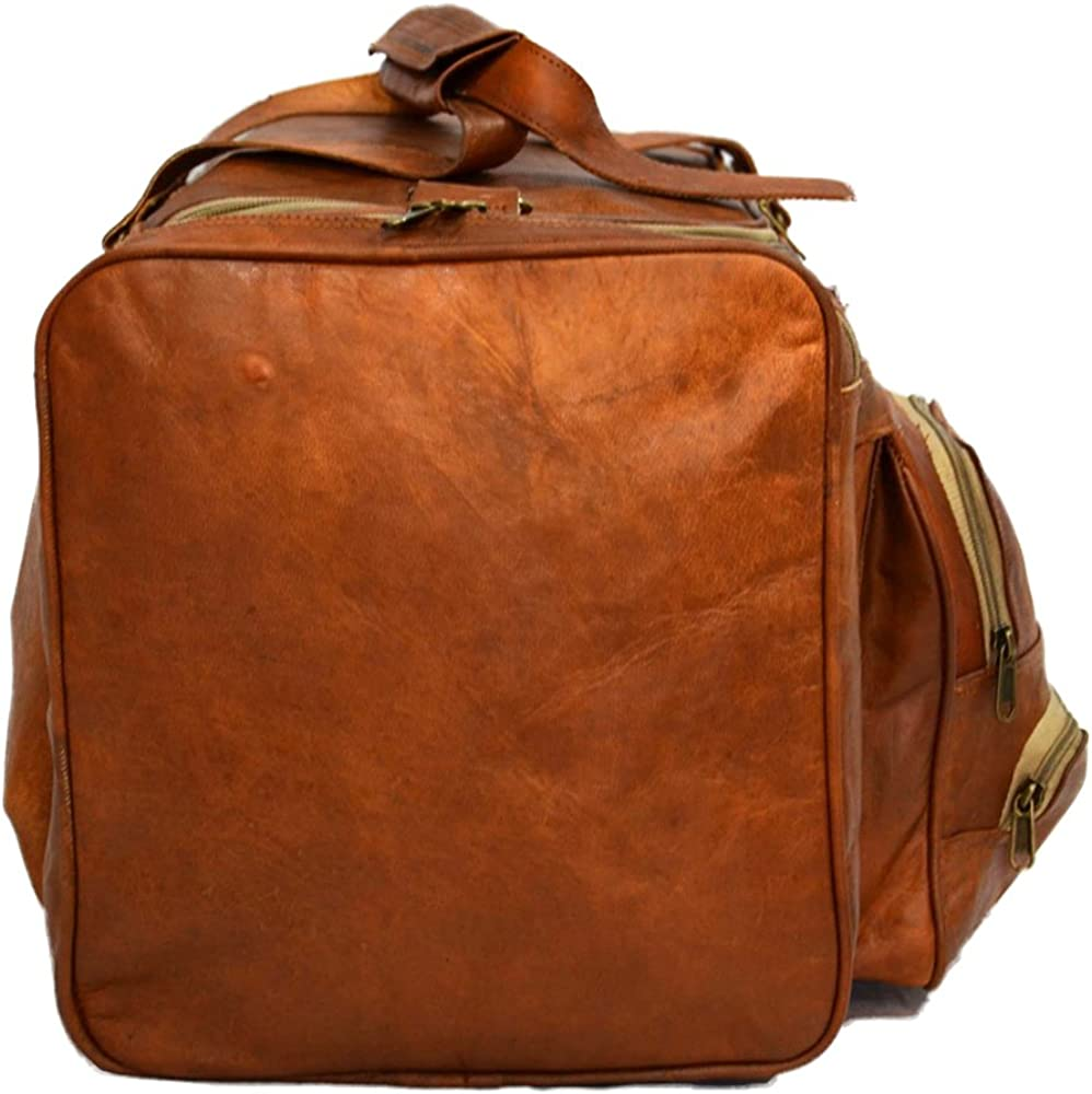 Goat Leather Handmade Travel Luggage Vintage Duffel Bag
