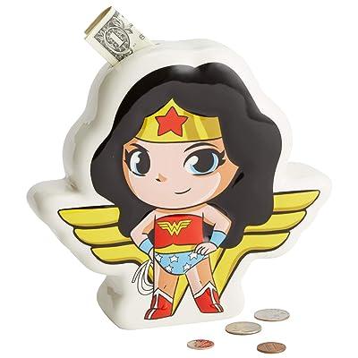 Enesco DC Comics Superfriends Wonder Woman Coin Bank, 7.48 Inch, Multicolor: Home & Kitchen