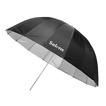 Selens 165cm 16 Varillas Paraguas Profesional Reflectante Parabólico Fotografía Estudio Fotográfico Iluminación, 58cm Profundidad -