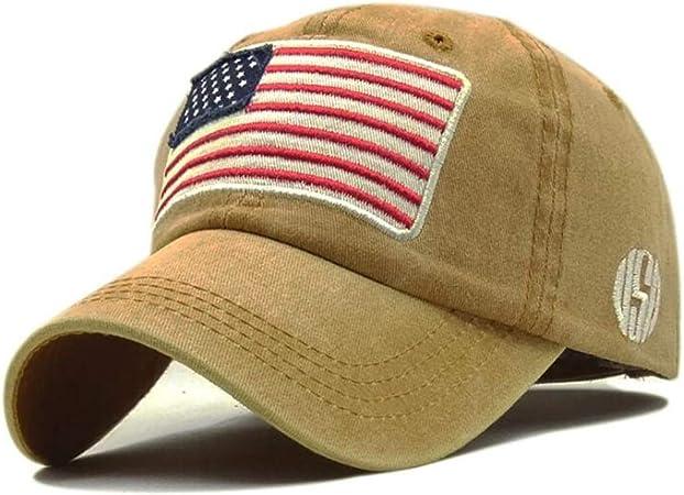 THY trade Berretto da baseball con bandiera americana USA Berretto ricamato Berretto militare esercito personalit/à semplice movimento cappello per il tempo libero unisex regolabile in cotone Trucker p