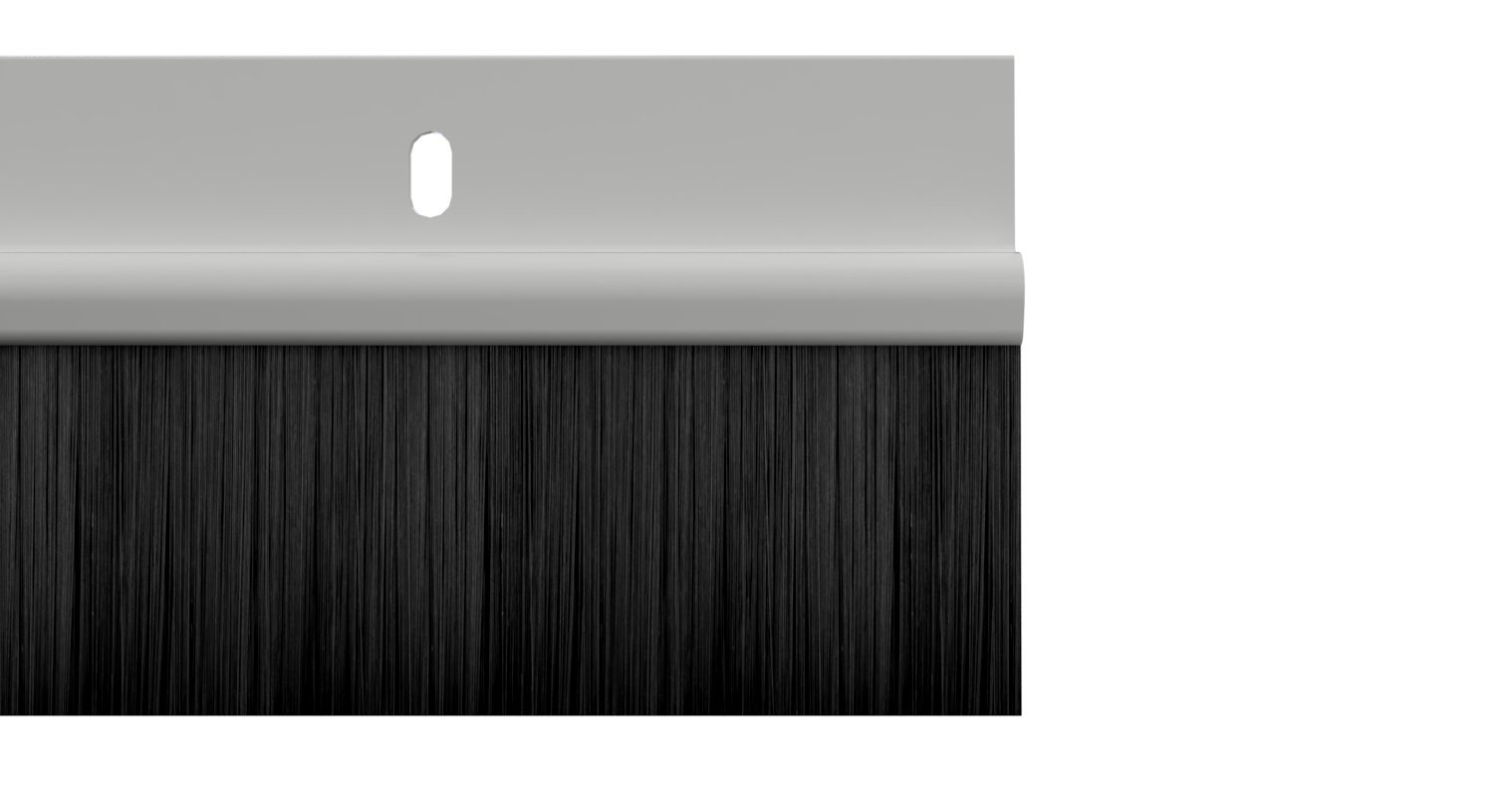 02SR0200914W Stormguard Brosse Bas Porte PVC Seal 914 mm Blanc