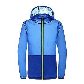 iBaste ultraligera Ropa de protección sol mujer con capucha cortavientos Sport Chaqueta Mujer Outdoor Protección Solar Resistente al viento.