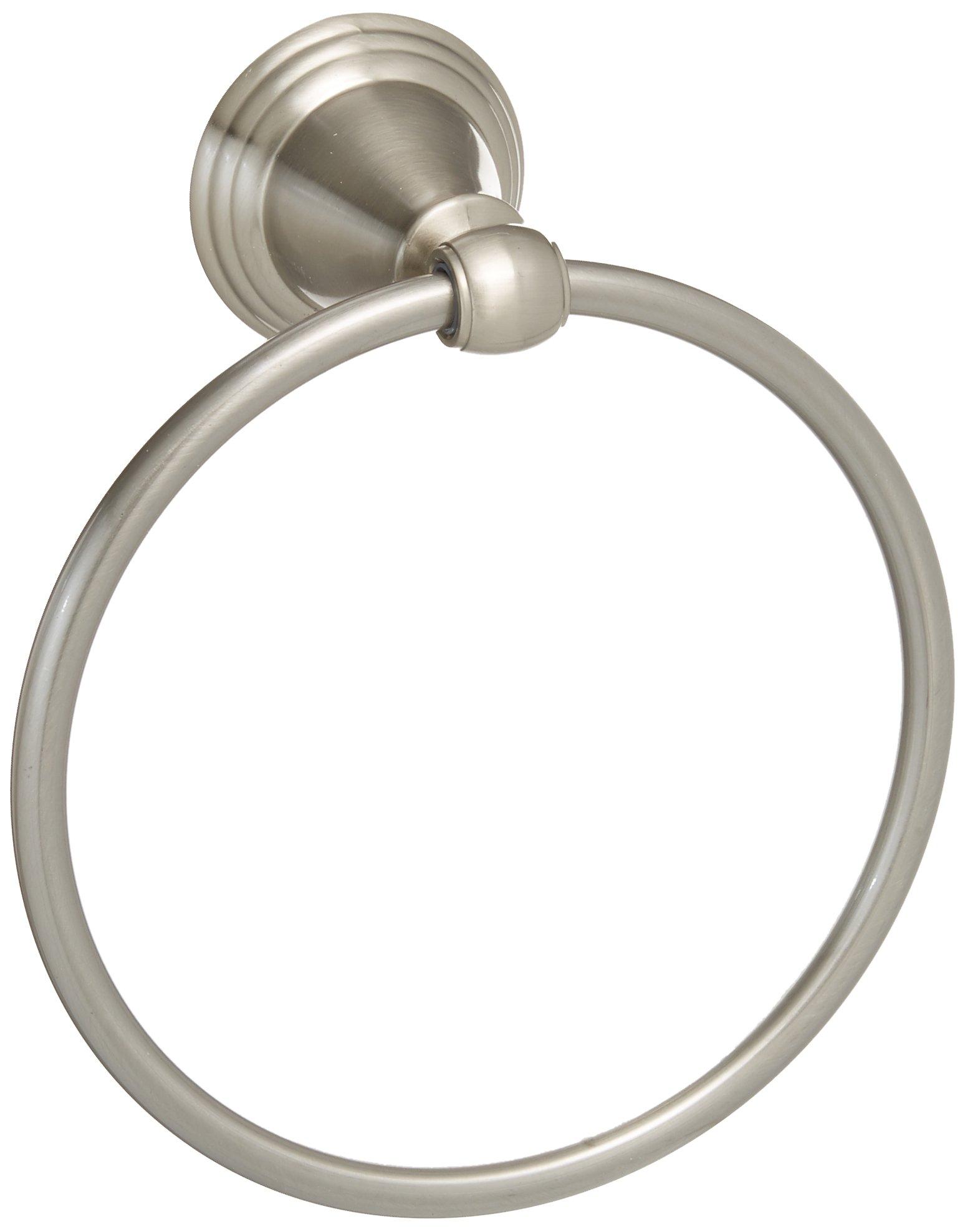 Delta Faucet 79646-BN Windemere Towel Ring, SpotShield Brushed Nickel