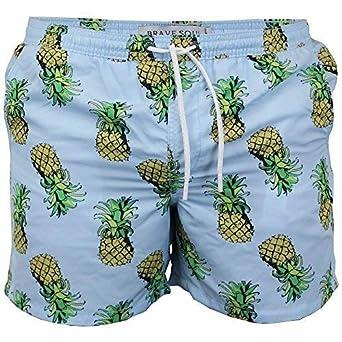 8769e8225d Brave Soul Mens Swimming Shorts Pineapple Print Beach Trunks Mesh Lined  Summer: Amazon.co.uk: Clothing