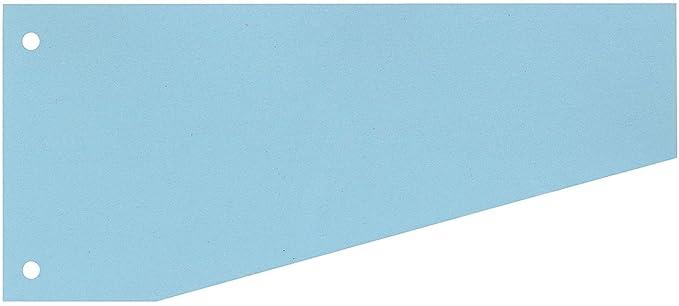 100 Trennstreifen Trennblätter Trennlaschen Register Aktenfahnen 10,5x24cm blau